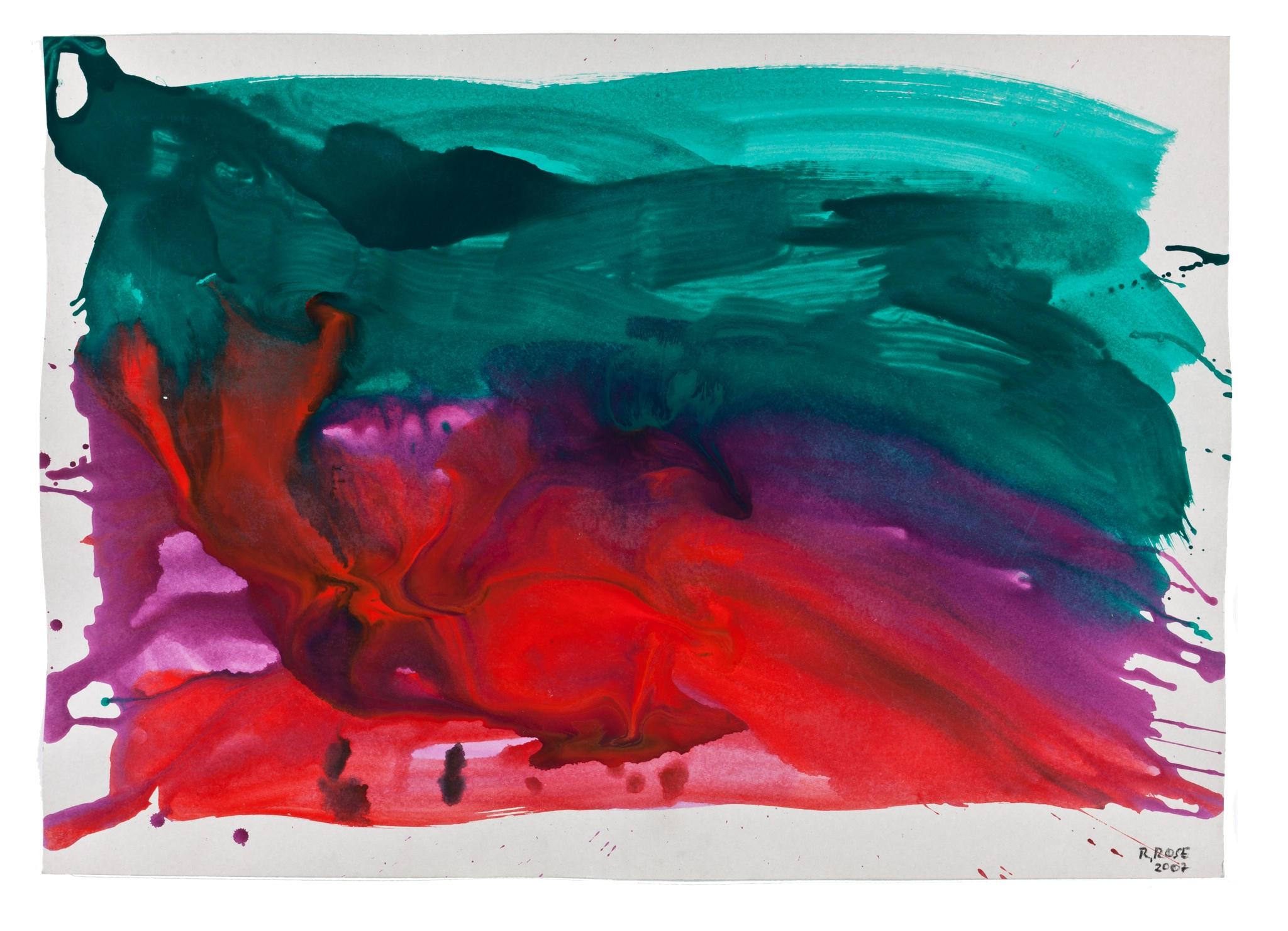 Rolf Rose, 74,5 x 105 cm, Aquarell und Acryl auf Pappe