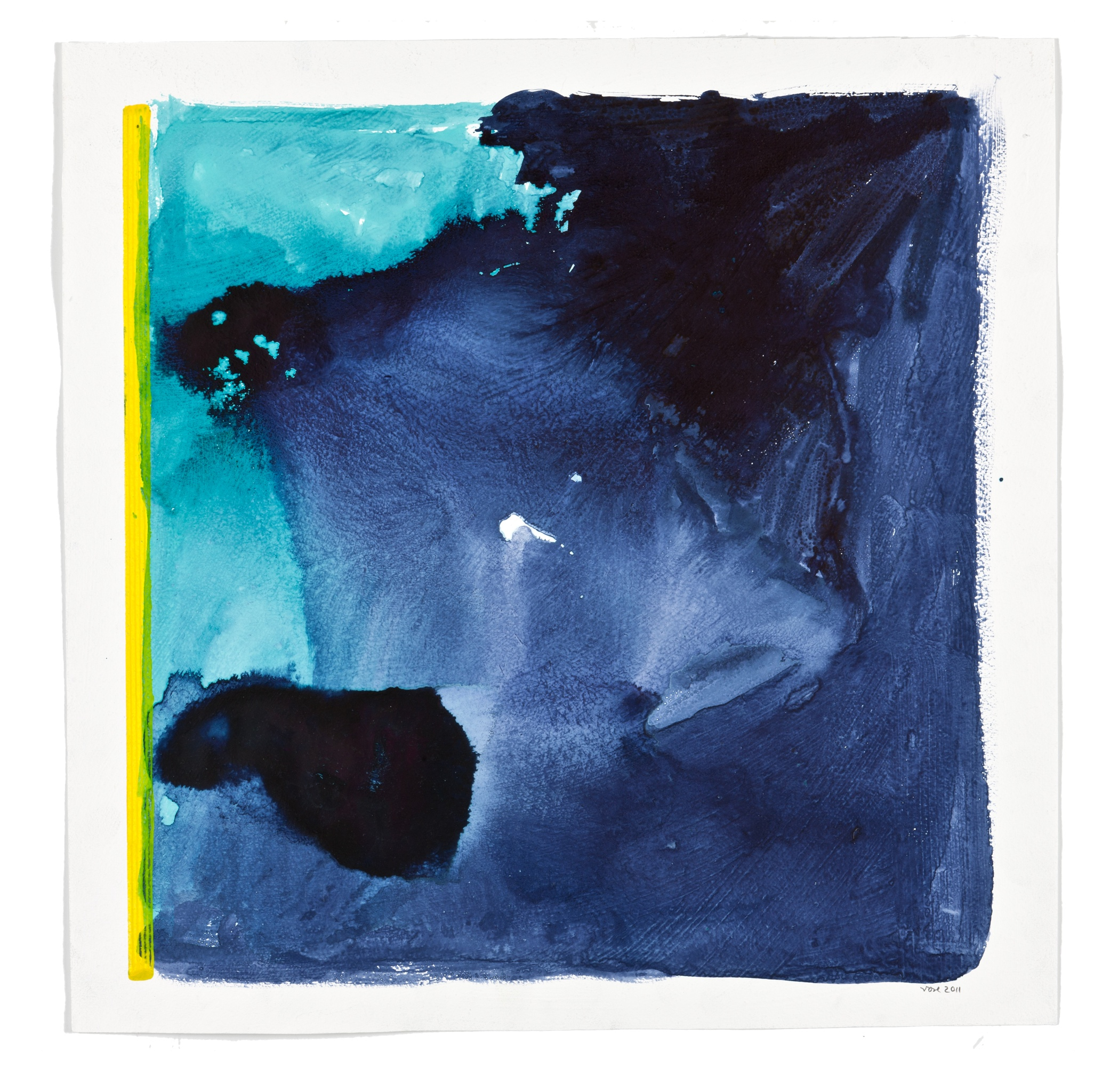 Rolf Rose, 59 x 59 cm, Aquarell auf Glasfaservlies